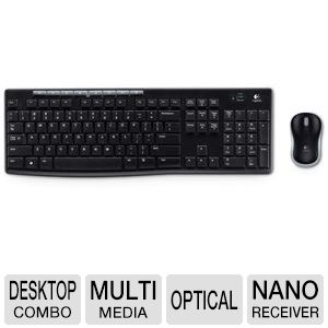 NEW Logitech MK270 Wireless Keyboard and Mouse Combo 2.4GHz  Long Battery Life