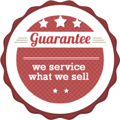Guarantee - we service what we sell